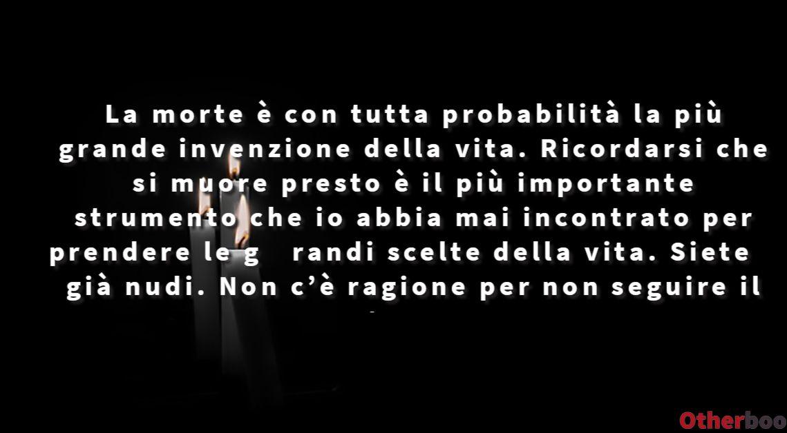 Otherbook Frase Di Steve Jobs La Morte E Con Tutta Probabilita